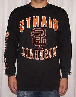 NWT San Francisco Giants MLB Men's Black Long Sleeve T-Shirt