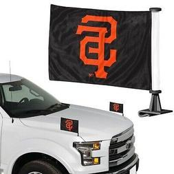San Francisco Giants 2-Pack Ambassador Style Auto Flag Car B