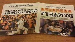 SAN FRANCISCO GIANTS 2014 WORLD SERIES CLINCHER & 2014 NLCS