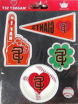 San Francisco Giants 4-Pack Team Magnet Sheet Auto Home Heav