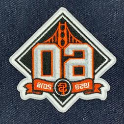 SAN FRANCISCO GIANTS 60TH ANNIVERSARY JERSEY SLEEVE PATCH IR