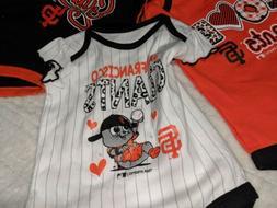 San Francisco Giants Baby unisex On Piece Shirts Set of 3 --