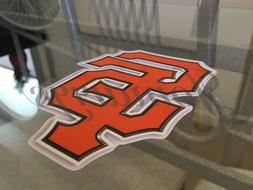San Francisco Giants Black / Orange SF Logo Sticker Decal Vi