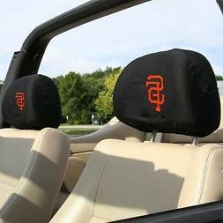 SAN FRANCISCO GIANTS CAR AUTO 2 TEAM HEADREST COVERS MLB BAS