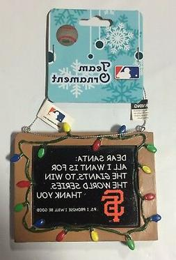 San Francisco Giants Christmas Tree Ornament Chalkboard All