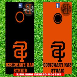 San Francisco Giants Corn hole Set of 6 Vinyl Decal Stickers