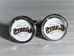 San Francisco Giants Cuff Links made from Baseball Trading C
