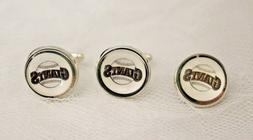 San Francisco Giants Cufflinks and Tie Tack Set Upcycled fro