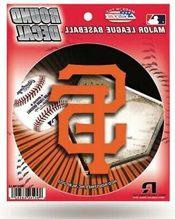 "San Francisco Giants Decal 4"" Round Vinyl Auto Home Window G"