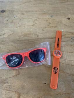 San Francisco Giants Fan Pack SGA Sunglasses Slap Band Watch