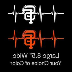 san francisco giants heartbeat large 8 5