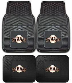 San Francisco Giants Heavy Duty MLB Floor Mats 2 & 4 pc Sets