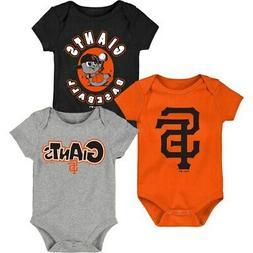 San Francisco Giants Infant Everyday Fan Three-Pack Bodysuit
