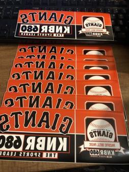 San Francisco Giants / KNBR Radio 680 The Sports Leader 2002