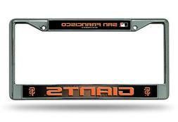 San Francisco Giants LBL Chrome Frame Metal License Plate Ta