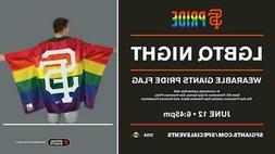 "San Francisco Giants LGBTQ Wearable Pride Flag 36"" x 58"" SGA"
