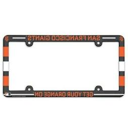 san francisco giants license plate frame full