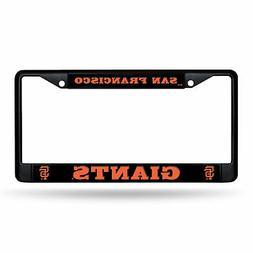 San Francisco Giants MLB 12x6 Black Metal License Plate Fram