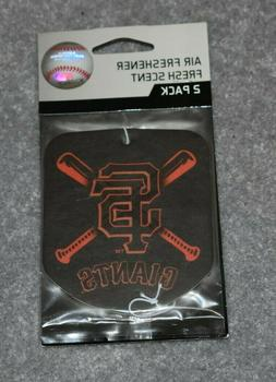 SAN FRANCISCO GIANTS MLB BASEBALL 2-PACK AIR FRESHENER FRESH