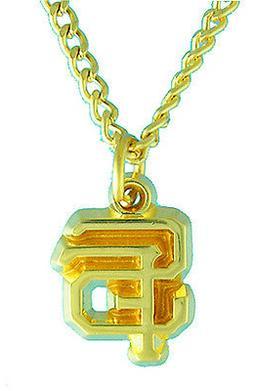 San Francisco Giants MLB Golden Logo Necklace