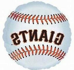 "San Francisco GIANTS MLB Team Logo 18"" Round Foil Mylar Part"