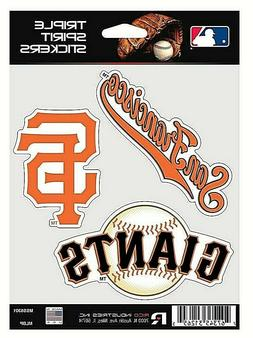 San Francisco Giants MLB Triple Spirit Stickers / Decals  3