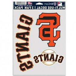 San Francisco Giants Multi Use Fan 3 Pack Decal Set  MLB Sti