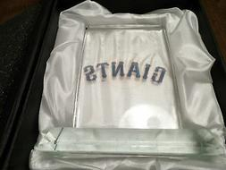 SAN FRANCISCO GIANTS MVP CRYSTAL Paper Weight Satin Display
