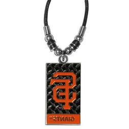 SAN FRANCISCO GIANTS NECKLACE ROPE DIAMOND PLATE MLB OFFICIA