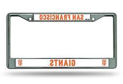 San Francisco Giants New Design Chrome Frame Metal License P