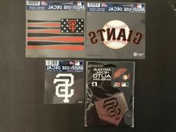 San Francisco Giants Nickel Auto Emblem decal Sticker Lot Of