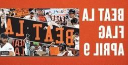 San Francisco Giants POSEY PENCE baseball BEAT LA banner fla