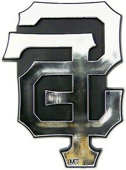 San Francisco Giants Raised Silver Chrome Color Auto Emblem