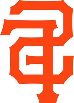 "San Francisco Giants SF logo 3"" Orange Black White Vinyl Dec"