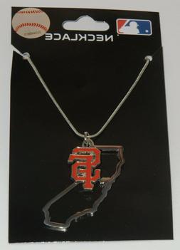 San Francisco Giants State Shape Charm w/ Team Logo Chain Ne