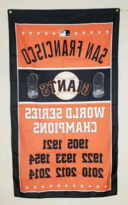San Francisco Giants World Series Banner 3x5 Ft Flag Man Cav