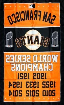 San Francisco Giants World Series Championship Flag 3x5 ft B