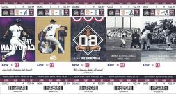 San Francisco SF Giants 2018 Ticket Stub March April May Jun