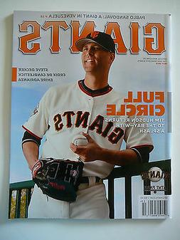 SAN FRANCISCO SF GIANTS MAY 2014 MAGAZINE-TIM HUDSON, PABLO