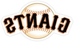 Set of 2 San Francisco Giants Vinyl Sticker Decal for Cornho