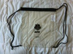 SF San Francisco Giants Clear Plastic Drawstring Bag / Visa