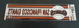 Vintage San Francisco Giants Bumper Sticker