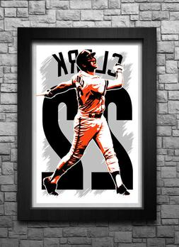 WILL CLARK art print/poster SAN FRANCISCO GIANTS FREE S&H! J