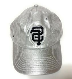Womens '47 Brand San Francisco SF Giants Silver Baseball Adj